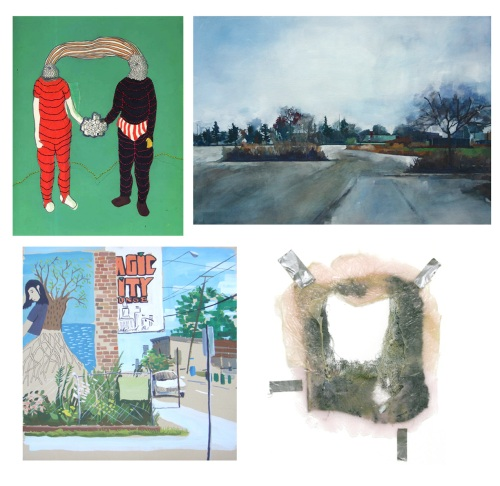 clockwise from left:  Megan Herwig/Front Room, Michelle Muldrow/Heights Arts, Tim Callaghan/WBG, Lori Ott/WBG